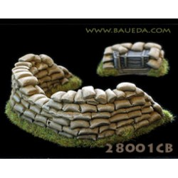 28mm HMG sandbags emplacement