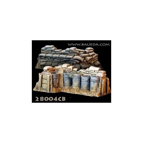 28mm Sandbag entrenchment corner