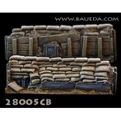 28mm Sandbag entrenchment straight